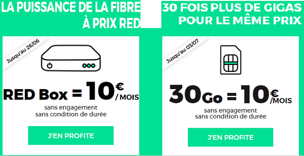 Code promo red fibre 15 vie r ductions box internet - Reduction rue du commerce frais de port gratuit ...