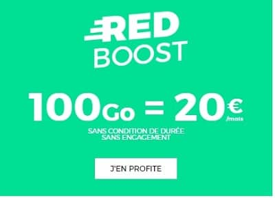 red boost : le forfait 100 gigas à 20 €