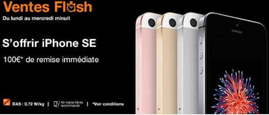 vente flash iphone se orange