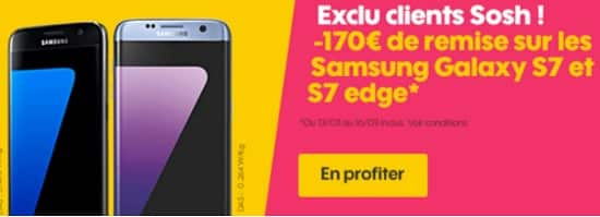 vente flash sosh sur le galaxy s7 et s7 edge