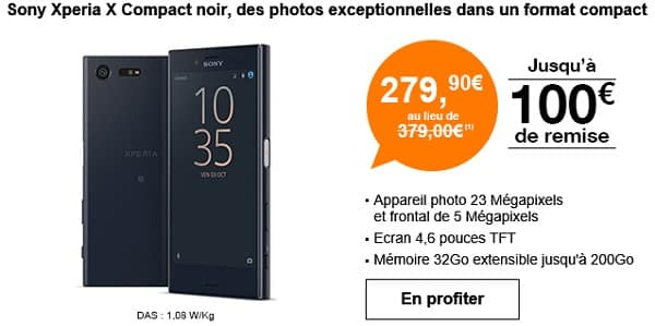 sony xperia x compact chez orange