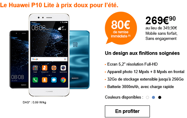 huawei p10 lite chez orange