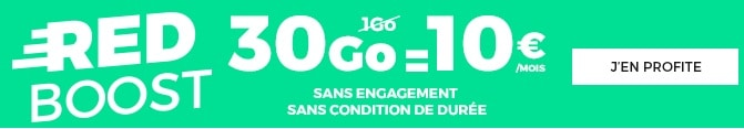 forfait red by sfr 30 go en promo