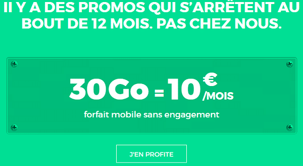 red by sfr promo forfait 30go