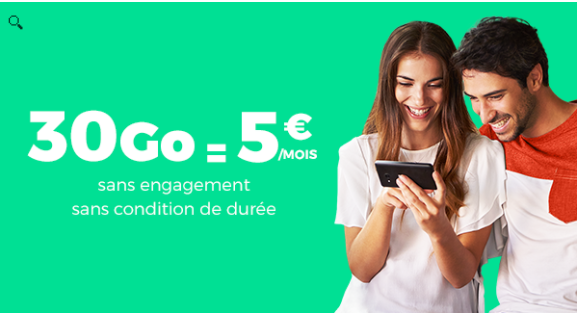 Offre red 30 gigas à 5 euros