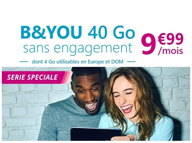 forfait b and you 40 Go sans engagement